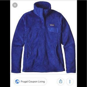 Ocean blue Patagonia Snap-T sweatshirt